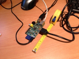 The RaspberryPi really is a diddy little thing!